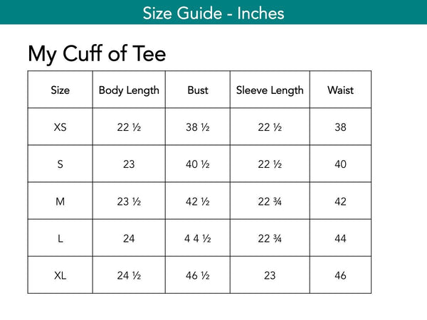 My Cuff of Tee Tops The Eight Senses®