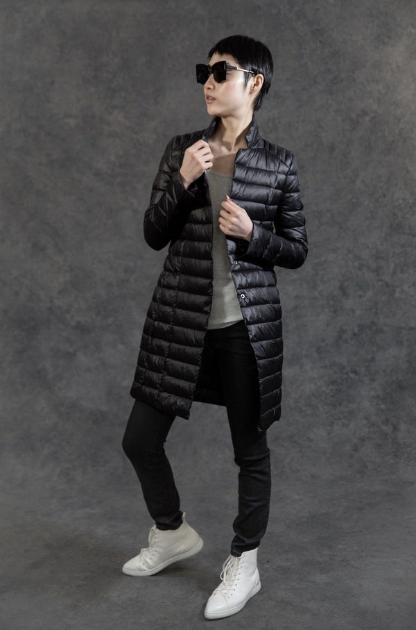 Puffer Blazer Coats The Eight Senses® Black XS