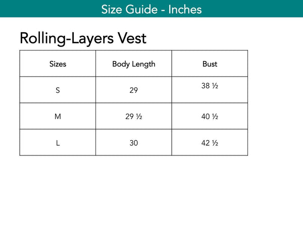 Rolling-Layers Vest Vests The Eight Senses®