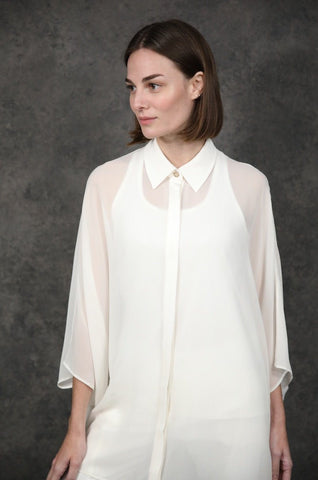 Sheer Elegance Tops The Eight Senses® White One Size