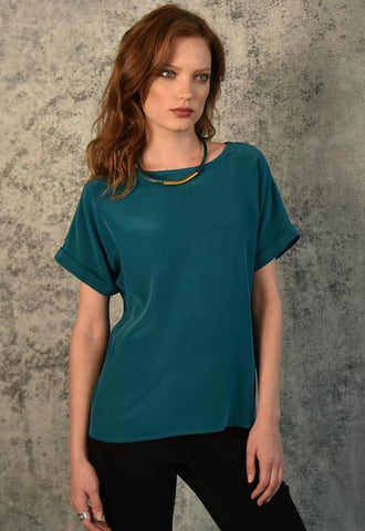 Silk Tee Tops The Eight Senses®