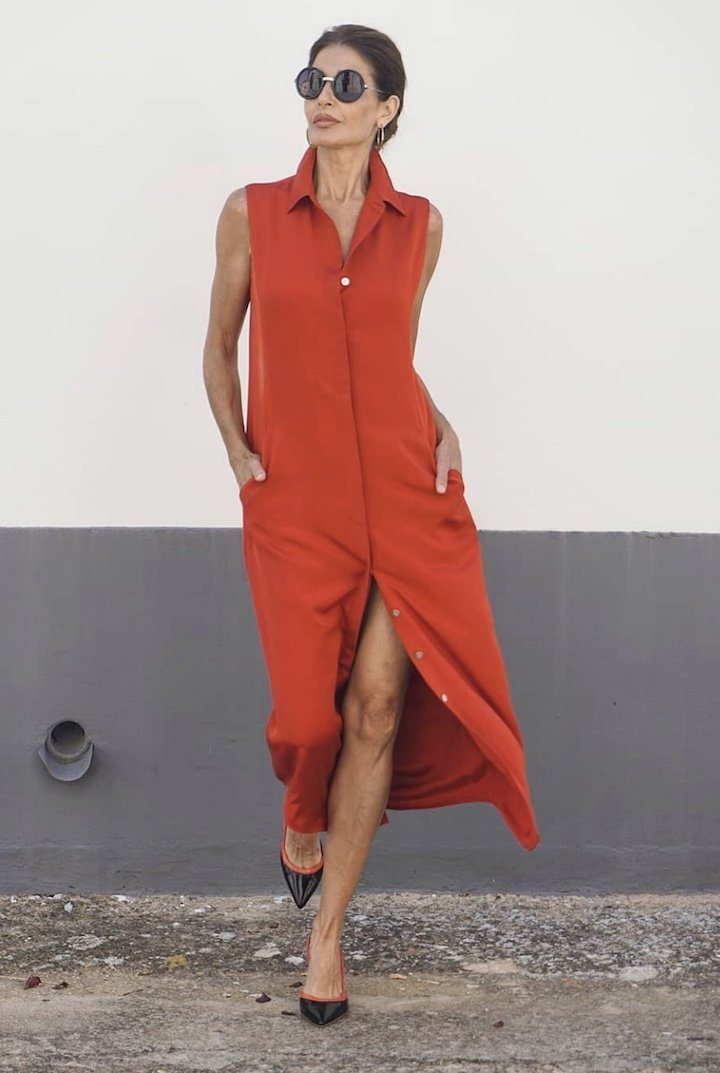 Sleeveless Silk Tunic Tops The Eight Senses®