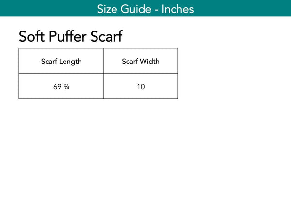 Soft Puffer Scarf Scarf The Eight Senses®