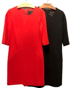 T-Shirt Dress Dresses The Eight Senses® Red XL