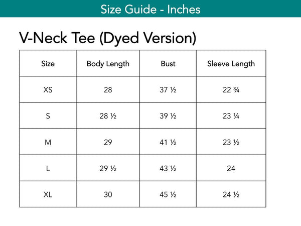 V-Neck Tee (Dyed Version) Tops The Eight Senses®