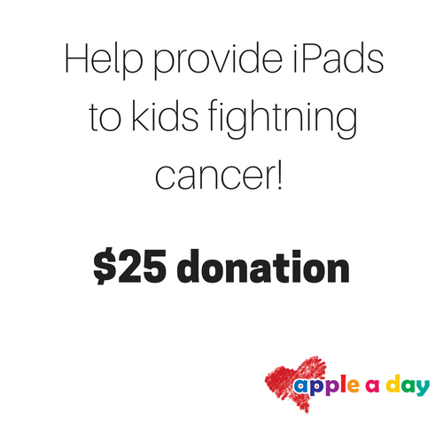 $25 donation to Apple A Day Foundation