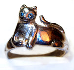 """Lazy"" Cat Ring"