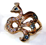 """Little Peacock"" Pinky ring"