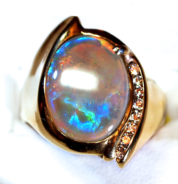 """Mystic Mountains"" Opal Ring"