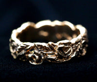 """Roses"" narrow 14K wedding band or other Ring"