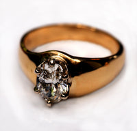 """Old"" Tiffany Style Solitaire Ring"