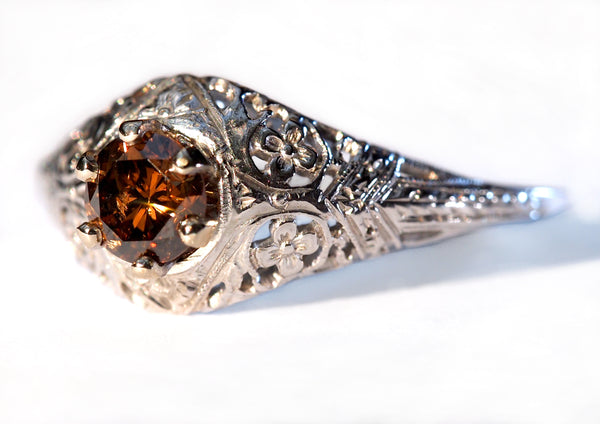 """Filigree Solitaire"" Engagement Ring"