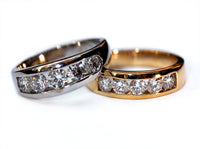 Classic channel set wedding bands