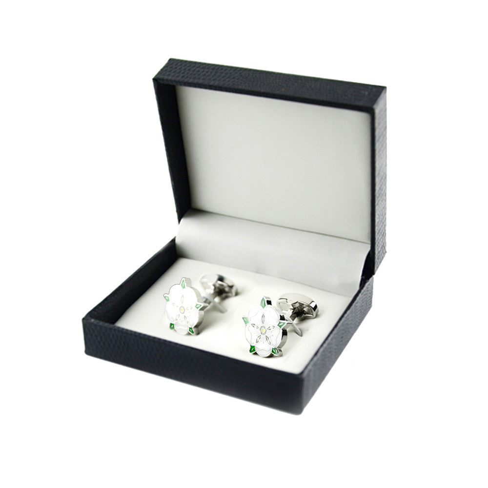 Cherry Blossoms Cufflinks With Box - Debonair Gent Menswear