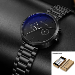 Stainless Steel Sport Wristwatch