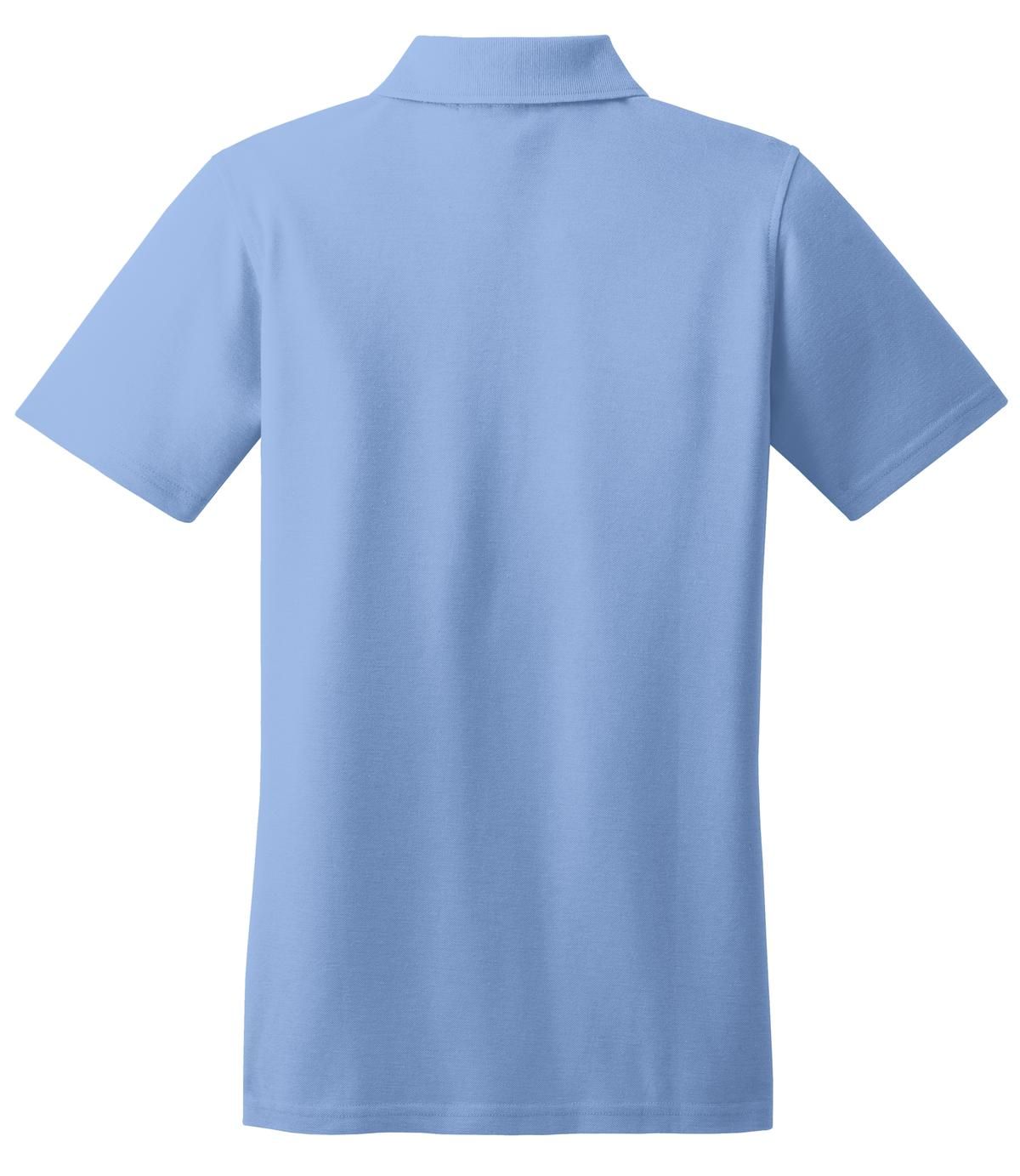 Mafoose Women's Stain Resistant Polo Shirt Light Blue-Back
