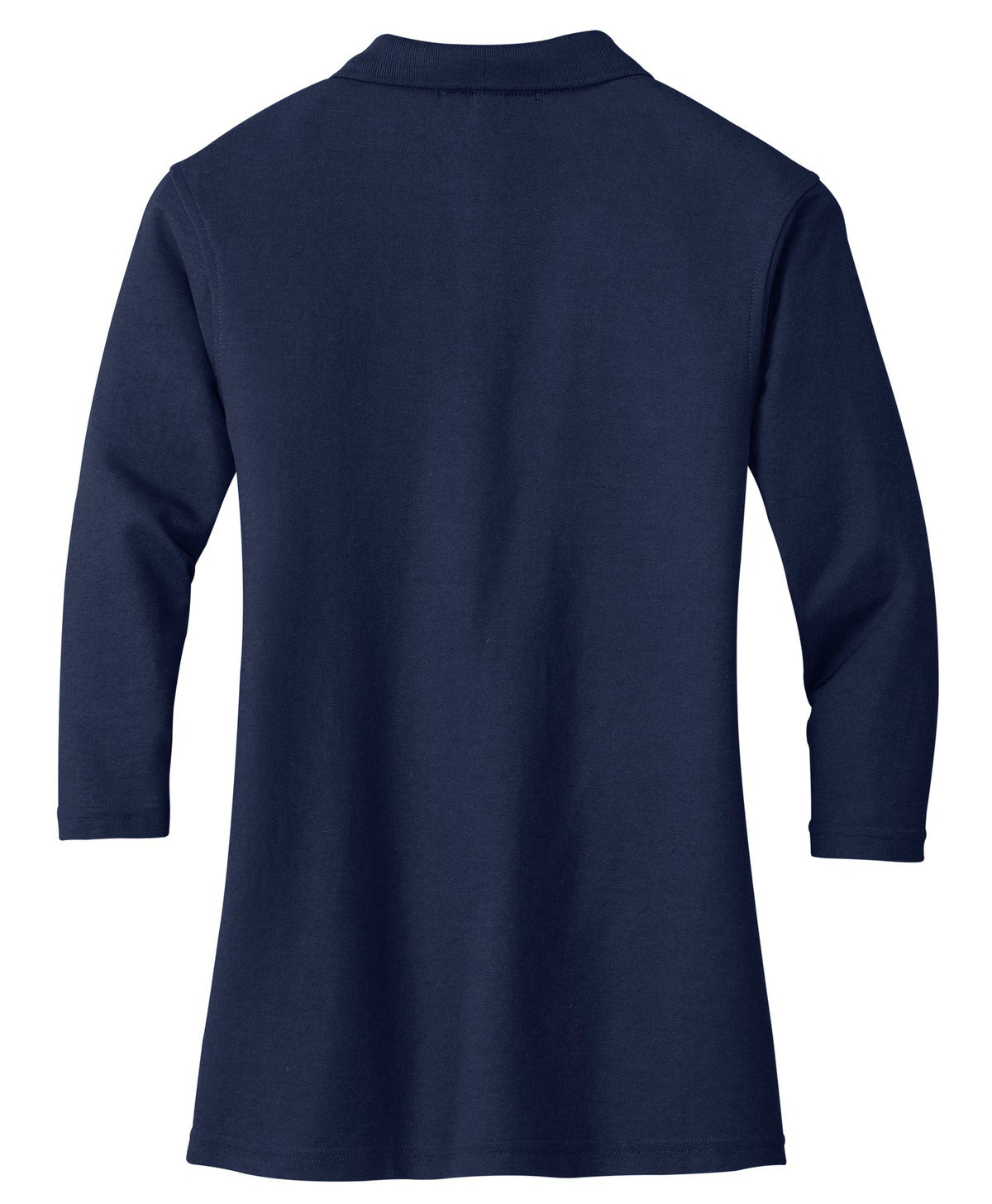 Mafoose Women's Silk Touch ¾ Sleeve Polo Shirt Navy-Back