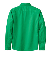 Mafoose Women's Long Sleeve Easy Care Shirt Court Green-Back