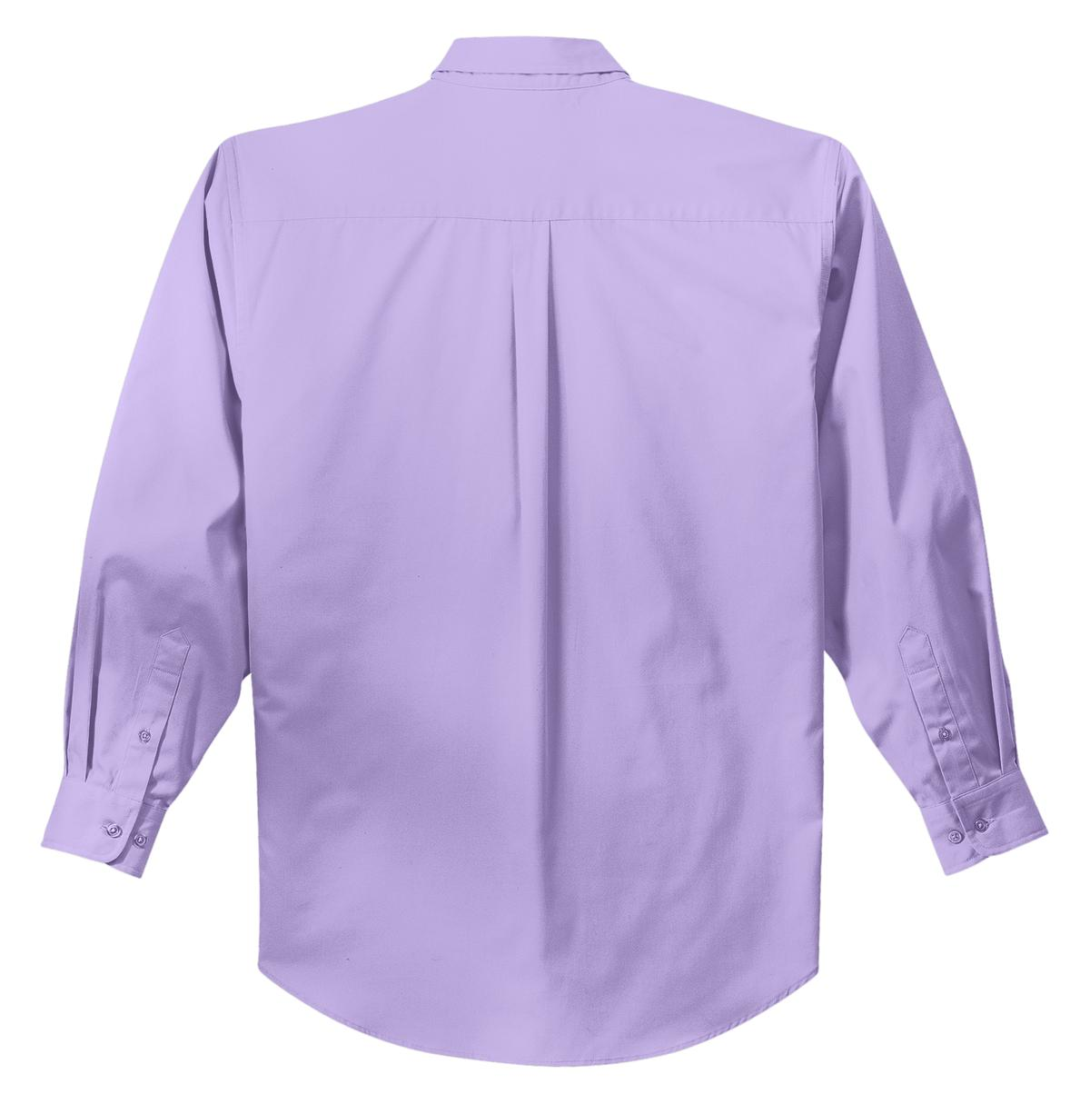 Mafoose Men's Tall Long Sleeve Easy Care Shirt Bright Lavender-Back