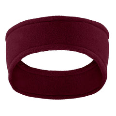 Women Stretch Fleece Headband Maroon