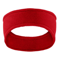 Women Stretch Fleece Headband Red