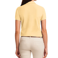Womens Silk Touch Classic Polo Shirt - Banana - Back