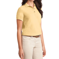 Womens Silk Touch Classic Polo Shirt - Banana - Side