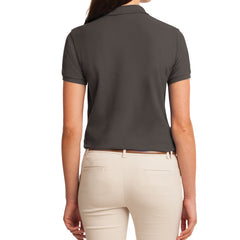 Womens Silk Touch Classic Polo Shirt - Bark - Back