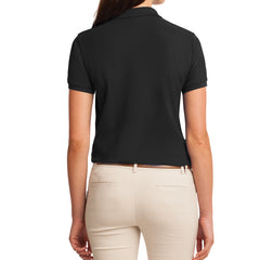 Womens Silk Touch Classic Polo Shirt - Black - Back
