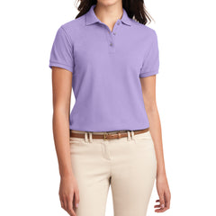 Womens Silk Touch Classic Polo Shirt - Bright Lavender - Front