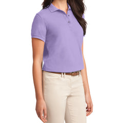 Womens Silk Touch Classic Polo Shirt - Bright Lavender - Side