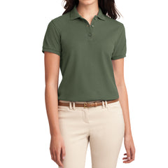 Womens Silk Touch Classic Polo Shirt - Clover Green - Front