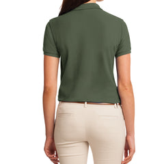 Womens Silk Touch Classic Polo Shirt - Clover Green - Back