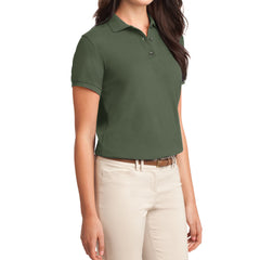 Womens Silk Touch Classic Polo Shirt - Clover Green - Side