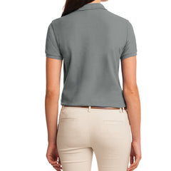 Womens Silk Touch Classic Polo Shirt - Cool Grey - Back