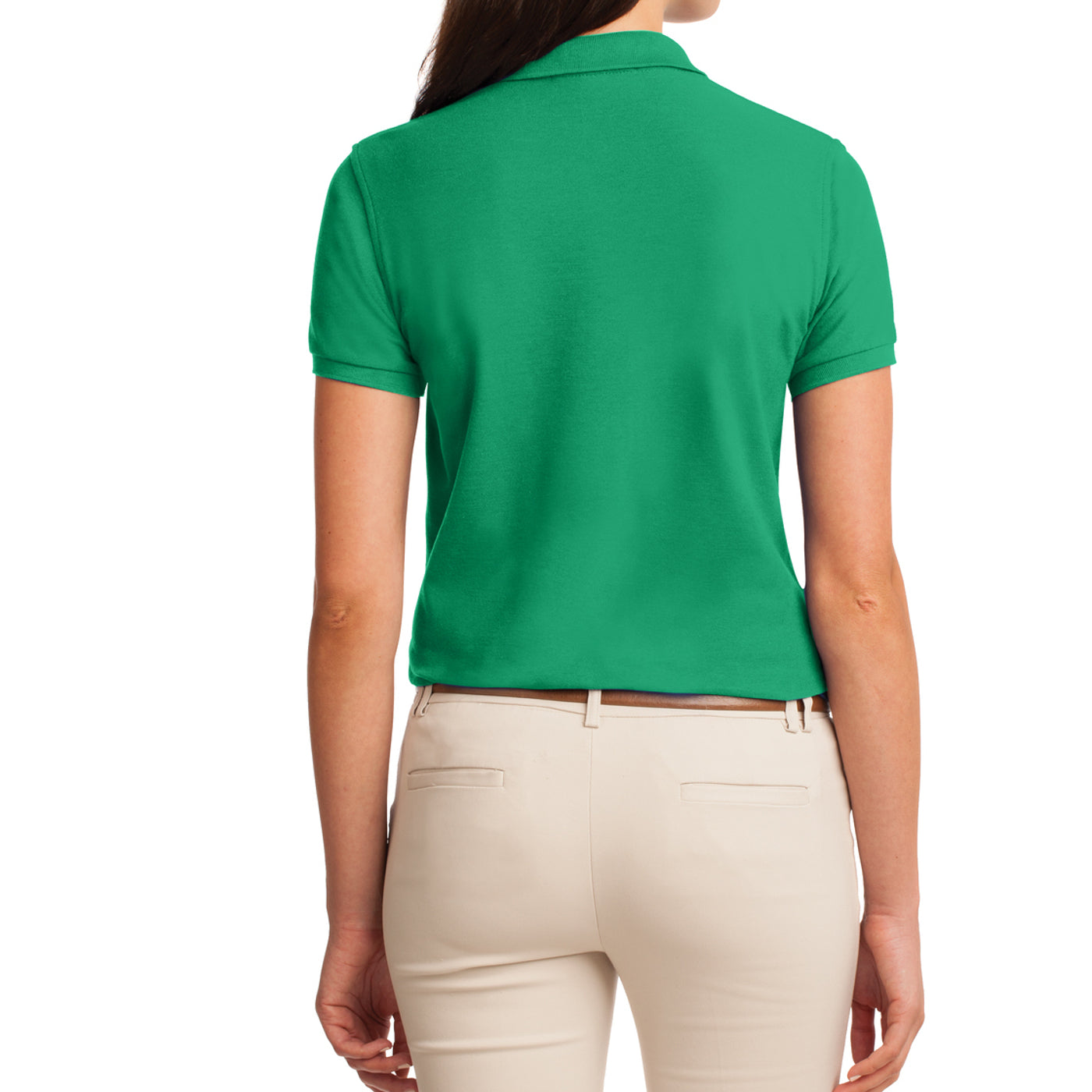 Womens Silk Touch Classic Polo Shirt - Court Green - Back
