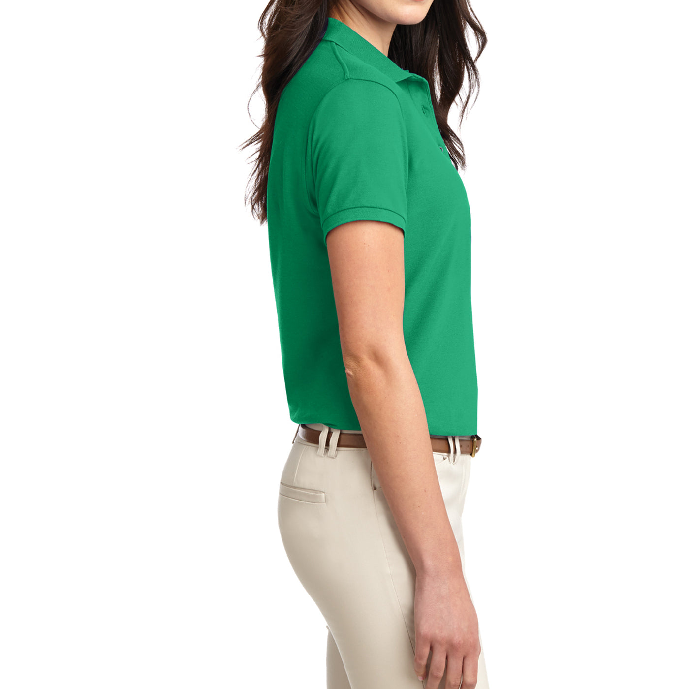 Womens Silk Touch Classic Polo Shirt - Court Green - Side