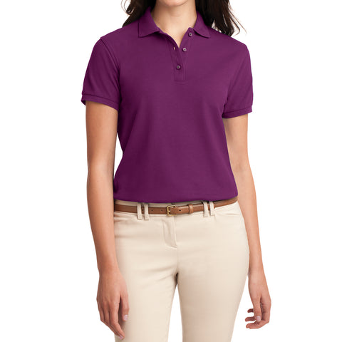 Womens Silk Touch Classic Polo Shirt - Deep Berry - Front