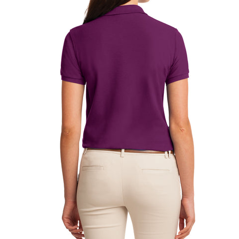 Womens Silk Touch Classic Polo Shirt - Deep Berry - Back