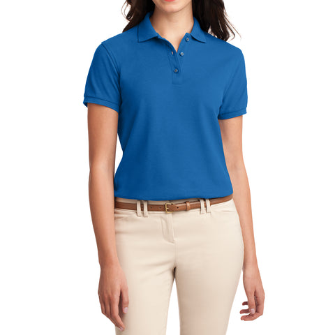 Womens Silk Touch Classic Polo Shirt - Strong Blue - Front
