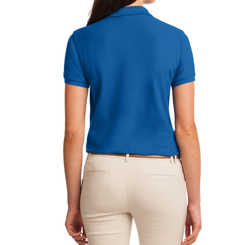 Womens Silk Touch Classic Polo Shirt - Strong Blue - Back
