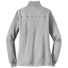 Mafoose Women's 1/4 Zip Sweatshirt Athletic Heather-Back