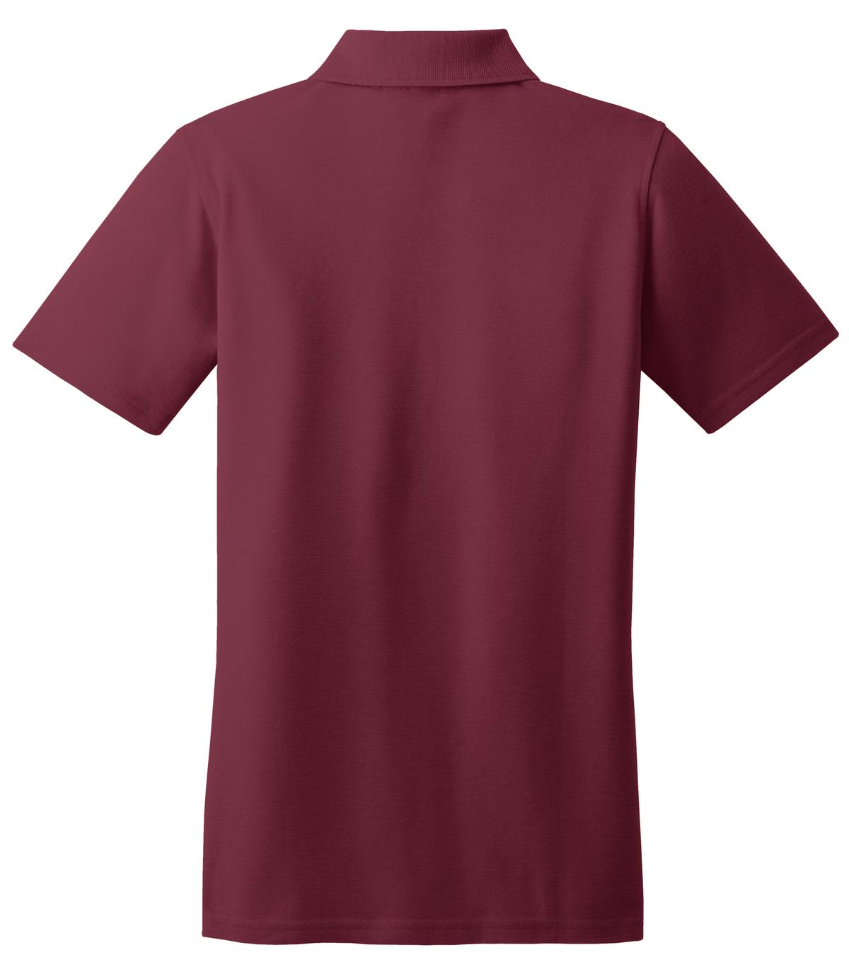 Mafoose Women's Stain Resistant Polo Shirt Burgundy-Back