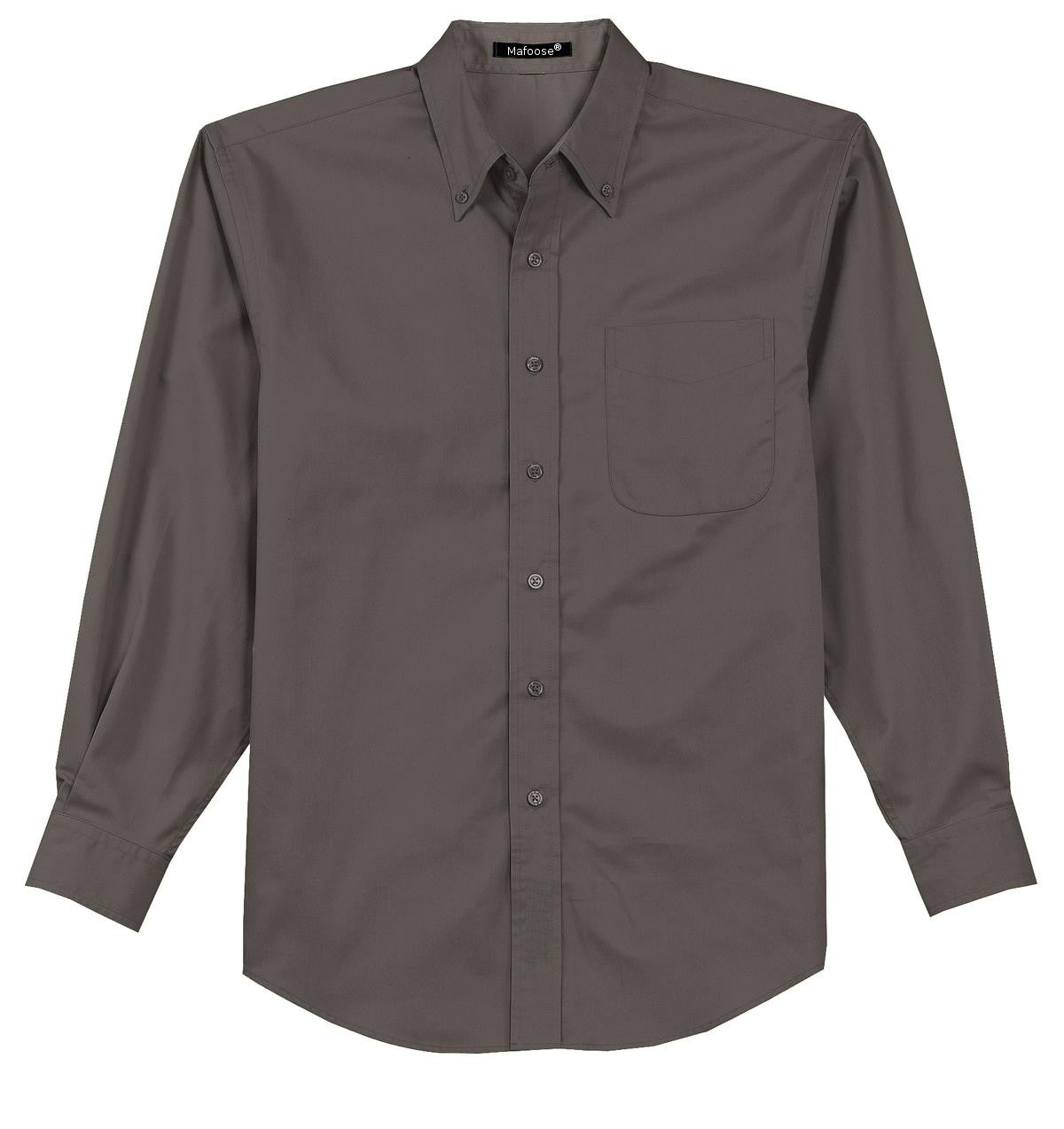 Mafoose Men's Tall Long Sleeve Easy Care Shirt Bark-Front
