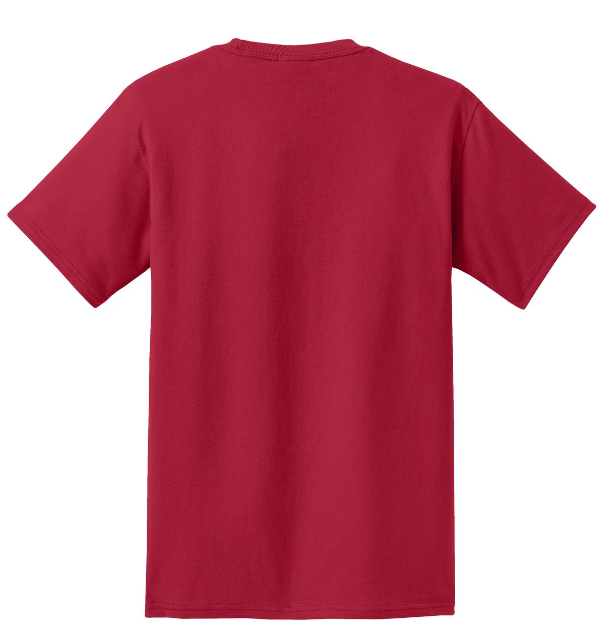 Men's Essential T Shirt with Pocket Red