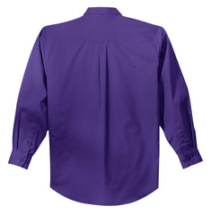 Mafoose Men's Tall Long Sleeve Easy Care Shirt Purple-Back