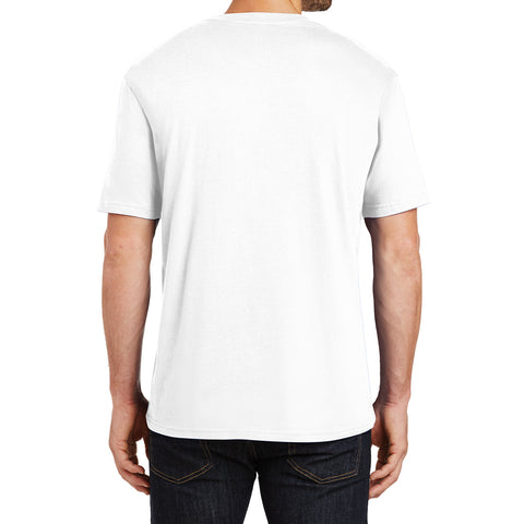 Mens Perfect Weight Crew Tee - Bright White - Back