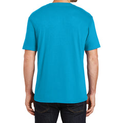 Mens Perfect Weight Crew Tee - Bright Turquoise - Back