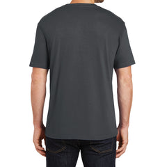Mens Perfect Weight Crew Tee - Bright Charcoal - Back