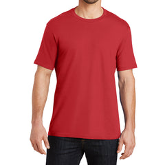 Mens Perfect Weight Crew Tee -  Classic Red - Front